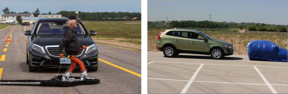 El sistema es capaz de detectar no sólo vehículos, sino también peatones. Mercedes /Volvo