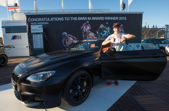 Este M6 se une a los cuatro Honda (dos Civic, un CR-V y un Accord) que se le entregaron a él y a su equipo hace poco. BMW.