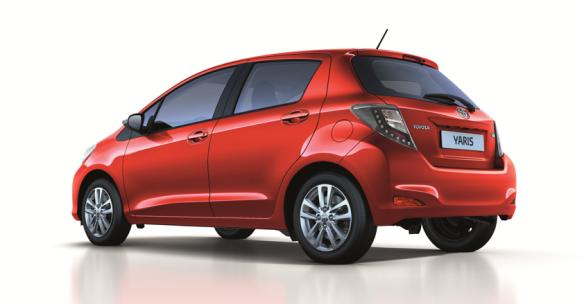 Los faros LED traseros son la principal novedad del Yaris 2014. Su precio parte desde los 9.900 euros. Toyota.