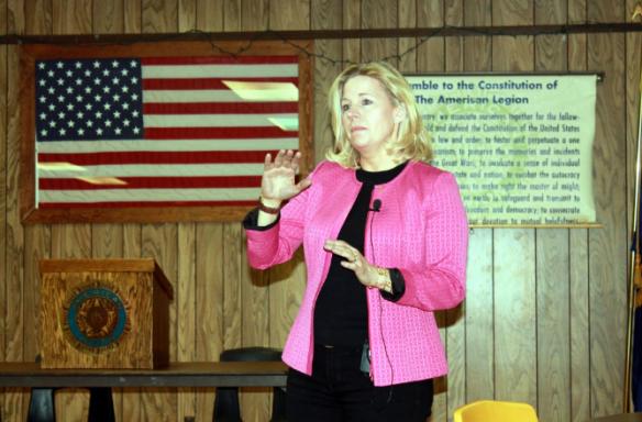 Liz Cheney, candidata al Senado por Wyoming.
