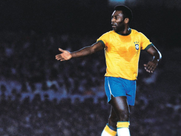 O Rei ayudó de manera decisiva a agrandar la leyenda de Maracaná. Pelé es el máximo goleador de la historia de la selección brasileña en su campo más significativo. En total, el legendario 10 de la canarinha hizo 30 goles en 22 partidos en el templo carioca. No está nada mal. Foto: Mercadolivre