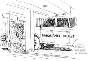 Uno de los dibujos que ha hecho Paco Roca en Mauritania. Paco Roca